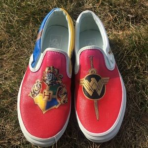 ONE of a kind hand painted Vans!